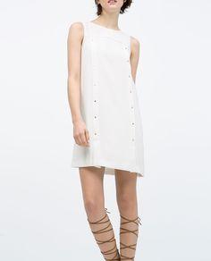 Image 3 of SLEEVELESS DRESS WITH STUDS from Zara