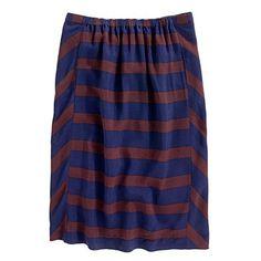 Madewell picket-stripe skirt