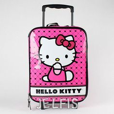 Sanrio Hello Kitty Carry On Sized Luggage Suitecase for Kids or Adults