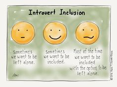 It's nice to be invited to join in. But it's even nicer to be understood if you're peopled out and can't take part. Introvert Cartoon from http://infjoe.wordpress.com.