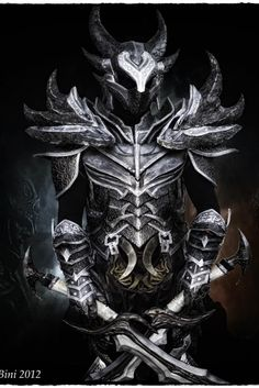 Cosplay Dovahkiin Daedric full armor from Skyrim by ~Zerios88