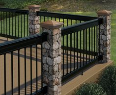 Redesigned Deckorators Postcover has look and feel of real masonry, perfect for decks, fence  posts and more.