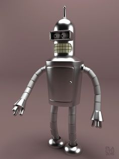 Bender B Rodriguez from Futurama modelled in 3DS Max