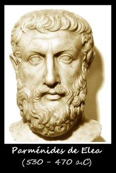 Parménides de Elea , siglo V , fue un filósofo griego escribió una sola obra ;un poema filosófico en verso épico .
