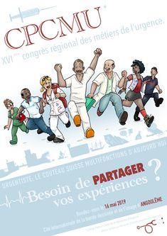 Tadaaaam !!!    Le congrès régional de médecine d'urgence Poitou-Charente aura lieu le 16 mai à Angoulême !!!    Diverses conférences et ateliers auront lieu autour de ces métiers et des différentes facettes de notre profession. Vous pourrez y partager votre expérience, enrichir votre sav... Sav, Poitou Charentes, Comics, Emergency Medical Technician, Veneers Teeth, Drawing Drawing, Cartoons, Comic, Comics And Cartoons