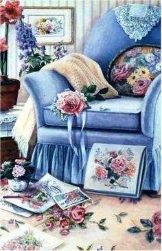 The Blue Chair by Susan Rios