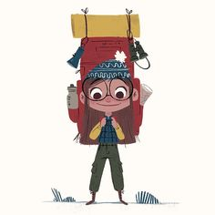 The little #backpacker. #sketch #illustration #outdoors #lovetheoutdoors