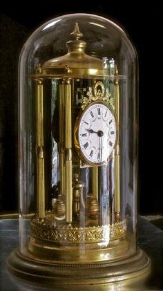 Huge antique GUSTAV BECKER 400 day anniversary clock Anniversary Clock, 50th Anniversary Gifts, The Bell Jar, Bell Jars, Old Clocks, Vintage Clocks, Clock Antique, Magic House, Boutique Deco