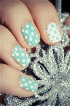 polka dotting for a little spring flair #nails