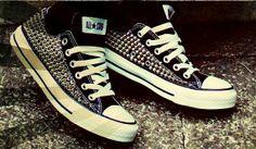 Custom Spike Studded Converse Shoes (ONE SIDED SHOES)