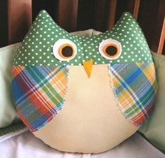 Max the Owl Pillow Plush Sewing Pattern PDF Cute Simple por Burlap Pillows, Sewing Pillows, Kids Pillows, Animal Pillows, Decorative Pillows, Owl Pillows, Owl Sewing, Sewing For Kids, Fabric Crafts