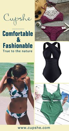 Sometimes amazing beauty shows in natural simplicity. Do you agree, girls? You look so glamorous in these pretty & simple swimwears, catching everyone's eyes because of your charm. Find more surprises on Cupshe.com~