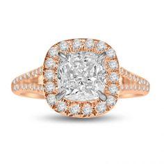 Gladius Cushion Engagement Ring