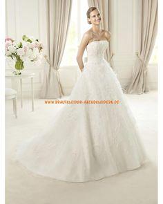 Extravagante schöne Brautkleider aus Organza Ballkleid mit langer Schleppe 2013
