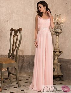 Tempting Empiere Scoop Floor-length Chiffon Prom Dress - Bridesmaid Dresses - Wedding Party Dresses - CDdress.com