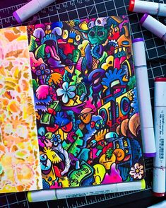 Behind The Scenes By art_quil Graffiti Doodles, Graffiti Cartoons, Graffiti Drawing, Graffiti Art, Cute Doodle Art, Doodle Art Designs, Doodle Art Drawing, Doodle Inspiration, Art Journal Inspiration