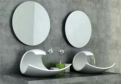 This is sink design by Joel Roberts as a Bathroom Innovations Awardfinalist. It has stylish and beautiful design inspired by oceanic form and motion. The basin Bathroom Sink Design, Modern Bathroom Sink, Modern Sink, Bathroom Stand, Bathroom Fixtures, Modern Bathrooms, Downstairs Bathroom, Minimalist Bathroom, Bathroom Art