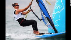 Bryony Shaw represents Great Britain in the women's sailing competition.