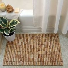 Wine Cork bathmat. LOVE. Note to self: Start drinking more wine! <3 Shouldnt be too hard. ;)