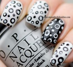 Day 7 – Black and White - My Nail Polish Online