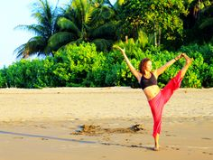 Beautiful beach yoga in Costa Rica