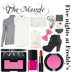 """Five nights at Freddy's inspired outfits #6 The Mangle"" by tortured-puppet on Polyvore"