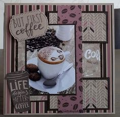 But first coffee But First Coffee, Birthday Cards, Card Making, Frame, How To Make, Cupcakes, Home Decor, Greeting Cards For Birthday, Room Decor