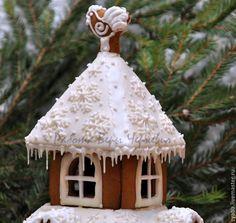Купить Новогодний пряничный терем - пряник, расписные пряники, имбирное печенье, имбирные пряники, козули