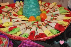 WRAP PLASTICWARE FOR THE WEEK table decor