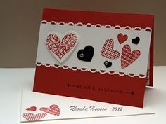Stampin Up Heart Valentine Card