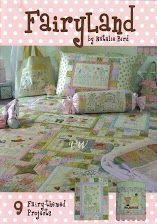 Fairyland Book: This pattern book by Natalie Bird of The Birdhouse Patchwork Designs features fairy-themed Projects including a Single Bed Quilt, Cot Quilt, Pajama bag, Pillow sham, bags and more. Red Brolly, Sewing Magazines, Shabby Fabrics, Patchwork Designs, Quilt Bedding, Fairy Land, Pattern Books, Book Crafts, Couture