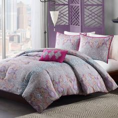 Product Image for Mizone Keisha Comforter Set in Grey 1 out of 2