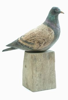 pigeon by Jeff Soan Clay Birds, Ceramic Birds, Ceramic Animals, Clay Animals, Ceramic Pottery, Ceramic Art, Decoy Carving, Wood Carving, Bird Sculpture