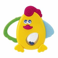 Chicco Polly Rattle by Chicco. $6.95. The Chicco Polly Rattle is a cute, colorful rattle that helps baby develop manual coordination and visual skills. Features a tummy that rotates with tinkling little balls inside. Light and easy to grasp, with parts in soft plastics that give relief from teething.
