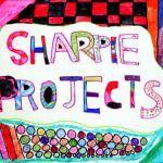 sharpie projects for kids Sharpie Art Projects, Arts And Crafts Projects, Projects For Kids, Crafts For Kids, School Projects, Project Ideas, Craft Ideas, Doodle Patterns, Doodle Borders