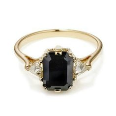 My black diamond wedding ring