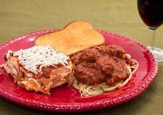 Ravioli Lasagna and Spaghetti and Meatballs.