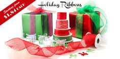 Holidays are around the corner! We have a variety of ribbons to choose from for your gifts!
