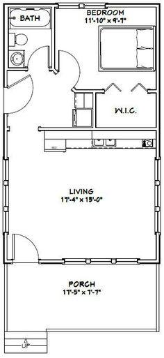18x30 Tiny House -- #18X30H2F -- 540 sq ft - Excellent Floor Plans