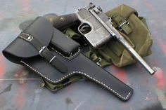 Items similar to New Mauser Broomhandle Holster Custom work USA , Read Me - Steampunk on Etsy Broom Handle, Gundam Wallpapers, Metal Gear Solid, Cool Guns, Military Weapons, Guns And Ammo, Firearms, Hand Guns, Wwii