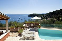 Jasmine - villa with heated pool and stunning sea views above Kalami, Corfu
