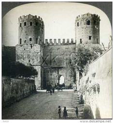 Italy Rome Gate of St Sebastian Porta Appia Aurelian Wall Roman Architecture, Historical Architecture, Appian Way, St Sebastian, Vintage Italy, Ancient Rome, Old City, Roman Empire, Old Photos