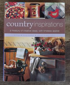 $9 Country Inspirations Book with patterns, recipes, tips and tricks on decorating your Primitive Country home.