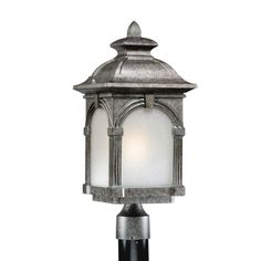Essex Lava Stone Energy Star 9 Inch Outdoor Post Light Vaxcel Post Outdoor Post Lighting O