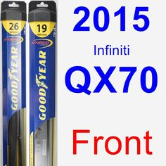 Cool Infiniti 2017: Front Wiper Blade Pack for 2015 Infiniti QX70 - Hybrid Check more at http://cars24.top/2017/infiniti-2017-front-wiper-blade-pack-for-2015-infiniti-qx70-hybrid/