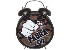 Orologio sveglia CHUCK N. che si illumina intorno quando suona - 30 cm-suona come una risata....AAAHHHH!!!!...UHA UHA AA.....