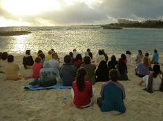 Sivananda Ashram Yoga Retreat: Silent Meditation at Sunrise on the Beach