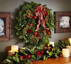 Live English Holiday Wreath #potterybarn