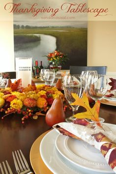 Thanksgiving Tablescape #PFdecorates @Sand and Sisal