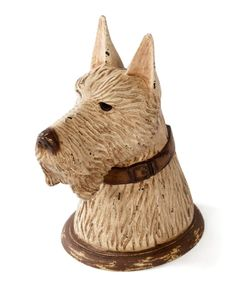 The Hip Vintage Scotty Box Bust Sculpture showcases careful etching to showcase life-like texture. This wooden sculpture is perfect for any dog lover,. Modern Decorative Boxes, Decorative Objects, Terrier Dogs, Joss And Main, Contemporary Furniture, Household Items, Home Furniture, Antiques, Vintage